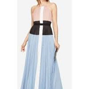 BCBG MAXAZRIA XS Constantine Pleated Maxi Dress